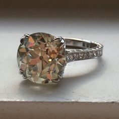 Vintage Diamond Ring Setting Farrah by JYB Vintage Diamond Rings, Antique Rings, Vintage Rings, Garra, Diamond Ring Settings, Rings N Things, Antique Engagement Rings, Diamond Cuts, Just For You