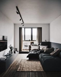 We know you guys are into interiors, our minimal interior design series is our most popular on the site. However, if you want more interior design and Design Loft, Loft Interior Design, Home Room Design, Living Room Designs, Studio Interior, Flat Design, Design Design, Modern Design, Interior Design Examples