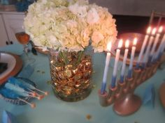 Home for Chanukah - eclectic - dining room - other metro - by Rita from Design Megillah