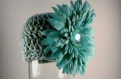 Newborn Girl Crochet Hat - Beanie with Attached Flower - Photo Prop | blackberrythyme - Children's on ArtFire