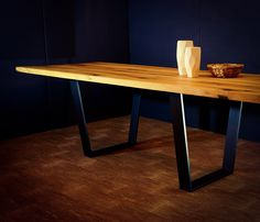 Contemporary solid oak table