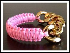 Bracelet Pink Bracelet Chunky Chain bracelet by KashmereCouture
