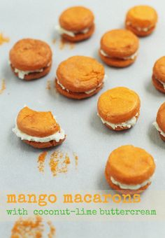 Mango Macarons with