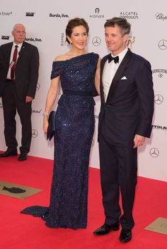 Crown Princess Mary and Crown Prince Frederik arrive for the Bambi 2014 media awards in Berlin, Germany. Nov. 13, 2014.