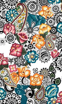 Tea See Do - Catalunha Branca Designer Wallpaper, Pattern Wallpaper, Wallpaper Backgrounds, Iphone Wallpaper, Textile Patterns, Print Patterns, Cute Wallpapers, Decoupage, Creations