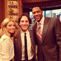 Actor Paul Rudd on #KellyandMichael