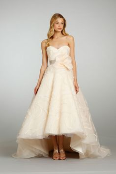 I really love this one - think it would be beautiful on Iim - Blush Wedding Dresses by Jim Hjelm