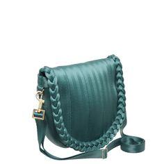 Sophia Saddle Bag Teal Cross Body Handbag just about my favorite! she has plum lining!