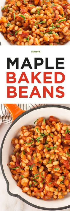 How to Make Maple Baked Beans the right way! #bakedbeans #cleaneating #healthyrecipes