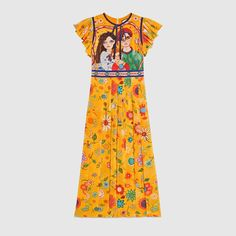Unskilled Worker silk dress- Gucci