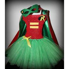 Batman Robin tutu dress costume with cape by SixChicKidsBoutique Batman Robin, Batman Girl, Lego Costume, Tutu Costumes, Cute Halloween Costumes, Costume Ideas, Mardi Gras, Superhero Dress, Robin Costume