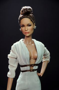 Mattel Barbie of Jennifer Lopez as repainted and restyled by Noel Cruz of ncruz.com for myfarrah.com. Dress by Jason Wu for Fashion Integrity.