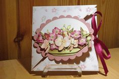 """6 fold card tutorial with great photos.  Try starting with a 7"""" x 10 1/2"""" piece of cardstock. Score at 3 1/2"""" and 7"""" on the long side, and at 1 3/4"""" and 5 1/4"""" on the short side. The rest will be the same.  Your finished card size should be 3 1/2""""."""
