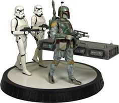Star Wars Statue - Boba Fett & Han Solo in Carbonite