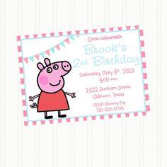 New  PEPPA Pig PARTY INVITATION