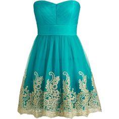 Teal Paradise Dress