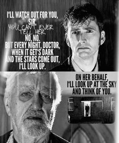 Donna Noble goodbye.. Wilfred, the oldest companion. I can't lie, this goodby made me cry. Poor Donna and the Doctor.
