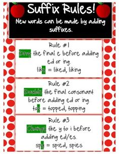 Adding suffix rules More