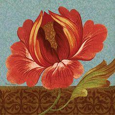 RB6033PG <br> Jacobean Florals II <br> 18x18