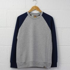 Carhartt Harvey Sweatshirt (Blue Penny) #carhartt #sweatshirt #raglan #sweater #newentry #menswear