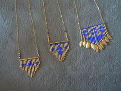 Navajo necklace Source by hellodomingo Seed Bead Jewelry, Beaded Jewelry, Jewelry Necklaces, Handmade Jewelry, Wire Wrapped Necklace, Diy Necklace, Necklace Designs, Diy Schmuck, Schmuck Design