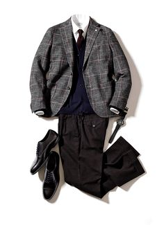 Wow winter mens fashion which look cool 032809 Blazer Fashion, Mens Fashion Suits, Mens Suits, Fashion Outfits, Grey Suit Combinations, Mens Style Guide, Well Dressed Men, Gentleman Style, Jacket Style