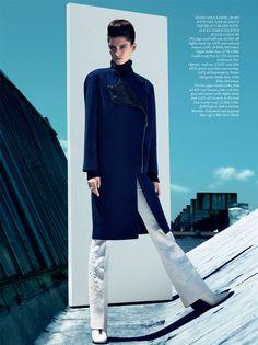Ava Smith Dons Bold Fall Looks for Harpers Bazaar UK September 2012 by Sebastian Kim