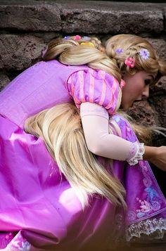 Rapunzel crouching