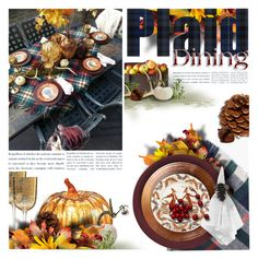 """""""Set the Table ~ Plaid Style"""" by kearalachelle ❤ liked on Polyvore featuring interior, interiors, interior design, home, home decor, interior decorating, Boohoo, Pier 1 Imports, C & F and Kim Seybert"""
