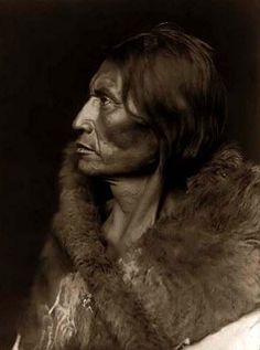 Above we show a vital photo of Mosquito Hawk, an Assiniboin Brave. It was made in 1908 by Edward S. Curtis.