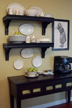 1000 images about hutch on pinterest coffee stations for Blank kitchen wall ideas