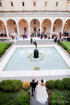 Boston Public Library Wedding, Photography by The Youngrens