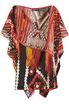MARIO TESTINO FOR MATE|Lilka printed cotton and silk-blend twill kaftan |NET-A-PORTER.COM
