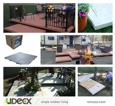 Discover the UDECX Patio Deck System. This easy to install DIY patio can be done at a fraction of the cost compared to a professionally installed concrete or wood patio. #decks #decksandpatios #decksaroundpools #decksandporches