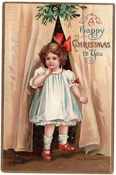 A happy Christmas to you! #vintage #Christmas #cards