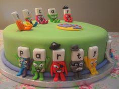 Eileen Atkinson's Celebration Cakes: Cbeebies Alphablock birthday cake