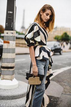 amazing spring style, blouse, denim