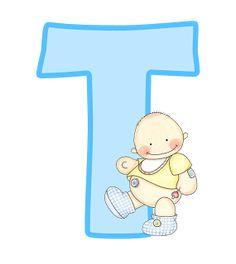 Montando minha festa: Alfabeto e números bebê menino - Azul
