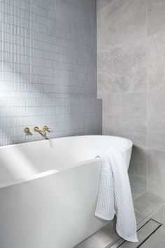 Nectaar (Bec and George) is an interior design studio, building and architectural hub based in Melbourne. Bathroom Inspo, Laundry In Bathroom, Bathroom Inspiration, Modern Bathroom, Bathroom Ideas, Relaxing Bathroom, Bathroom Goals, Grey Bathrooms, Bathroom Renovations