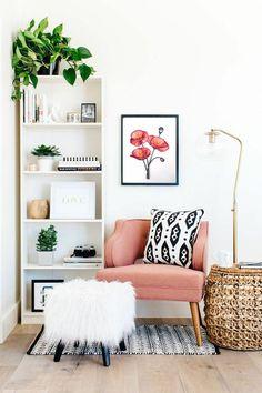 Living Room Furniture, Living Room Decor, Bedroom Decor, Living Area, Bedroom Wall, Decor Room, Cozy Living, Bedroom Lighting, Book Shelf Bedroom