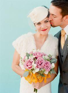 Retro glam red lips: http://www.stylemepretty.com/2015/05/20/bold-bridal-lip-looks-we-love/