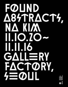 Font. Poster. Abstract.