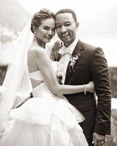 Chrissy Teigen and John Legend's wedding in Martha Stewart Weddings.