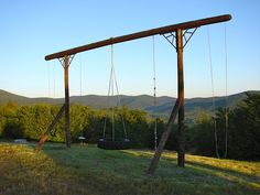 Pieced Pastimes Swing Set from Telephone Poles