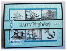 nautical, masculine, stampin up