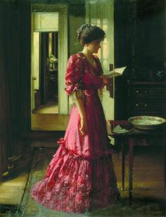 The Letter (1910). William Mouat Loudan (British, 1868-1925). Oil on canvas. City of London Corporation. Guildhall Art Gallery.