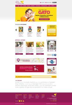Criação site pet Gato pra Cachorro.