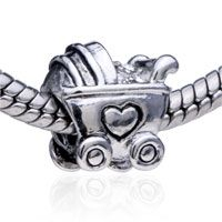 Pugster Baby Carriage Silver Plated Style Pandora Bead