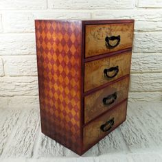 Harry Potter Marauders Map Gryffindor Vintage Style Large Chest of Drawers Trinket Jewelry Box