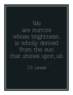 Printable Mirrors CS Lewis quote by laurkon on Etsy